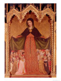 Virgin of the Misericordia, Detail of the Central Panel, circa 1422 Giclee Print by Jean Miralhet