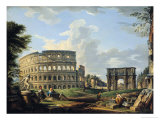 The Colosseum and the Arch of Constantine Giclee Print by Giovanni Paolo Pannini