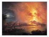 The Eruption of Vesuvius Premium Giclee Print by Jean Baptiste Genillion