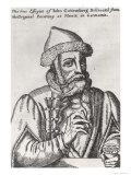 Portrait of Johannes Gutenberg Giclee Print by Albrecht Mentz