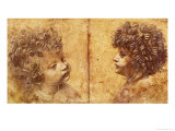 Study of a Child's Head Lámina giclée por Leonardo da Vinci
