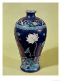 Ming Vase with Three Colour Decoration Giclee Print