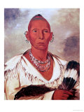 Portrait of Black Hawk, Indian Chief Giclee Print by George Catlin
