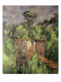 Bibemus Quarry, 1898-1900 Giclee Print by Paul Cézanne