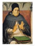 Portrait of St. Thomas Aquinas circa 1475 Giclée-Druck von Joos van Gent