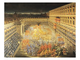 Festival in Honour of Queen Christina of Sweden at the Palazzo Barberini Giclee Print by Filippo Lauri