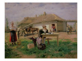 Arrival of a School Mistress in the Countryside, 1897 Giclee Print by Vladimir Egorovic Makovsky