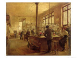 The Laboratory, 1887 Giclee Print by Ferdinand Joseph Gueldry