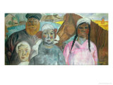 The Peasant Family, 1923 Giclee Print by Boris Dmitrievich Grigoriev