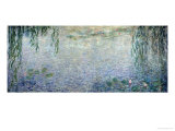 Waterlilies: Morning with Weeping Willows, Detail of the Central Section, 1915-26 Stampa giclée di Claude Monet