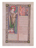 """Pierre Lombard, Bishop of Paris, from the """"Book of Sentences"""", circa 1160, Giclee Print"""