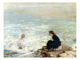 Mother and Child at the Water's Edge Giclée-Druck von George William Russell