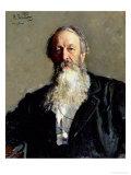 Portrait of Vladimir Stasov, 1883 Giclee Print by Ilya Efimovich Repin