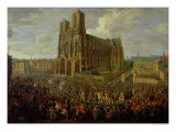 The Procession of King Louis XV after His Coronation, 26th October 1722, 1724 Giclee Print by Pierre-Denis Martin