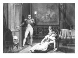 The Divorce of Napoleon I and Josephine Tascher de La Pagerie 30th November 1809 Giclee Print by Charles Abraham Chasselat