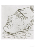 Portrait of Vincent Van Gogh on His Deathbed, 29 July 1890 Giclee Print by Paul Gachet
