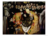 The Burial of Count Orgaz, from a Legend of 1323, Detail of a Young Page, St. Etienne, 1586-88 Giclée-tryk af  El Greco