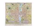 Plan de La Tapisserie, Map of Paris, Originally a Tapestry Made in circa 1570, 1818 Giclee Print by Caroline Naudet