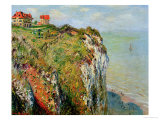 Claude Monet - Cliff at Dieppe, 1882 - Giclee Baskı