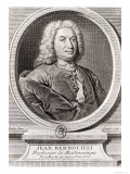 Portrait of Jean Bernoulli Giclee Print by J. Ruber