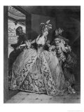 The Farewells, 1777 Giclee Print by Jean-Michel Moreau the Younger
