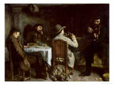 After Dinner at Ornans, 1848 Giclee Print by Gustave Courbet