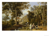 Garden Scene on the Broganza Shore, Rio de Janeiro Giclee Print by William Havell