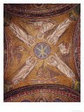 Four Angels with the Symbols of the Evangelists Surrounding the Chi-Rho Monogram of Christ Giclee Print