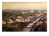 Panorama of the Fires in Paris During the Commune, May 1871 Giclee Print by E. Daroy
