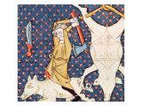 December: Killing Pigs Giclee Print by  Master Ermengaut