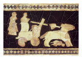 War Chariot Pulled by Two Horses, 2800-2300 BC Giclee Print by  Mesopotamian