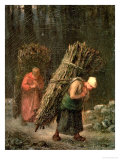 Peasant Women with Brushwood, circa 1858 Giclee Print by Jean-François Millet