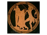 Attic Red-Figure Cup Depicting Cassandra Chased by Ajax Seeking Refuge by a Xoanon of Athena Giclee Print