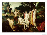 Diana Bathing Reproduction proc&#233;d&#233; gicl&#233;e par Francois Clouet