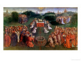 Copy of the Adoration of the Mystic Lamb, from the Ghent Altarpiece, Lower Half of Central Panel Giclee Print by Hubert & Jan Van Eyck