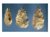 Three Flint Tools Giclee Print by Paleolithic 