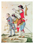 Je Savais Bien Que Nous Aurions Notre Tour, Caricature Depicting the Three Orders, 1789 Giclee Print