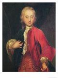 Portrait of Comte Maurice de Saxe Aged Fifteen, circa 1711 Giclee Print by Adriaan van der Werff
