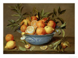 Still Life with Oranges and Lemons in a Wan-Li Porcelain Dish Giclee Print by Jacob Van Hulsdonck
