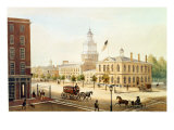 State House, Philadelphia Giclee Print by Augustus Kollner