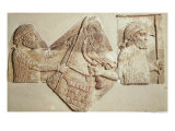 Fragment of a Relief Depicting Median Tributaries Reproduction procédé giclée