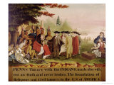 Penn's Treaty with the Indians circa 1840 Giclee Print by Edward Hicks