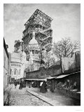 The Construction Ot the Sacre Coeur in Montmartre, circa 1885-90 Giclee Print