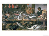 The Fish Market, 1618-21 Giclee Print by Frans Snyders Or Snijders