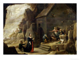 The Temptation of St. Anthony Gicl&#233;e-Druck von David Teniers the Younger