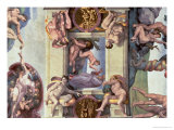 Sistine Chapel Ceiling : the Creation of Eve, 1510 Premium Giclee Print by  Michelangelo Buonarroti