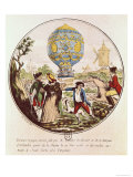 The First Aerial Voyage by Monsieur Francois Pilatre de Rozier 21st November 1783 Giclee Print by De Frene