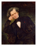 Portrait of Hector Berlioz Giclee Print by Achille Peretti
