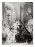 Heloise and Abelard Giclee Print by Achille Deveria