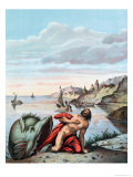 Jonah Thrown out by the Whale on the Shore Giclee Print by Theodore Amst